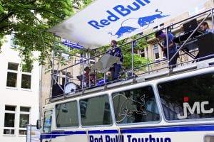 Neufundland auf dem Red Bull Tour Bus; Foto: Juli Leykauf